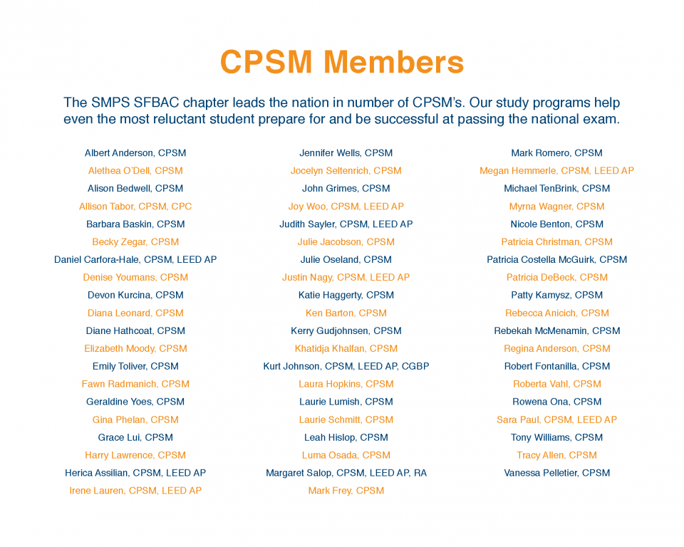 SMPS SFBAC CPSM Members List